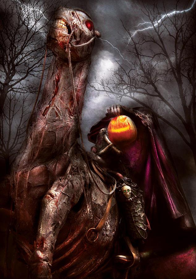 Savad Photograph - Halloween - The Headless Horseman by Mike Savad