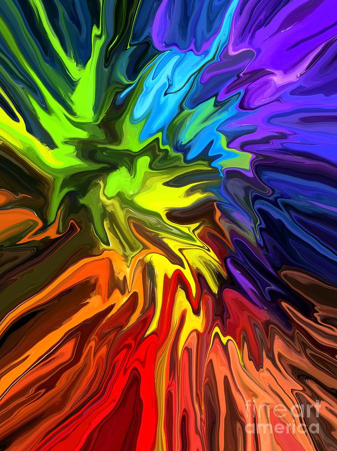 Abstract Digital Art - Hallucination by Chris Butler