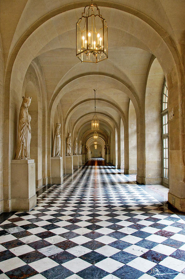 Hallway In Palace Of Versailles Photograph by Izzet Keribar