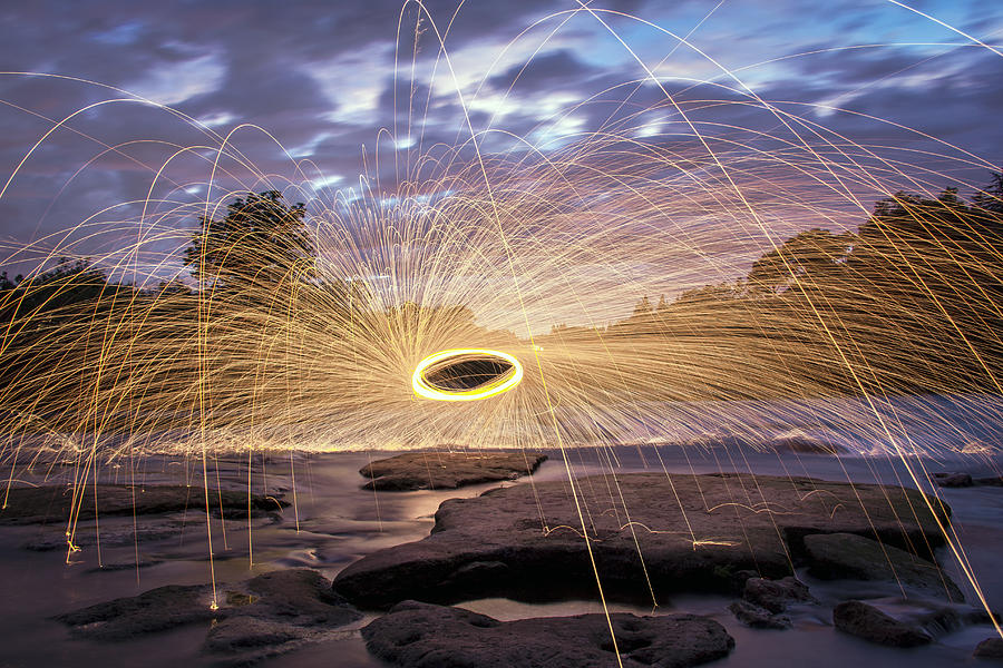 Steel Wool Photograph - Halo On The American River by Lee Harland