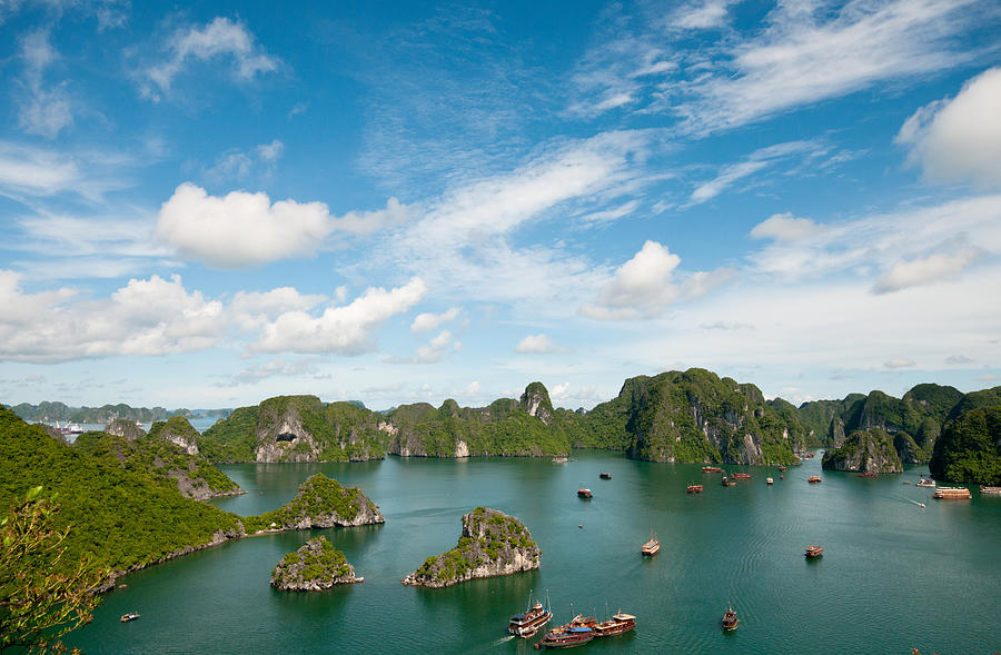 Seascape Of Halong Bay In The Pacific Ocean Vietnam Photograph By Michalakis Ppalis