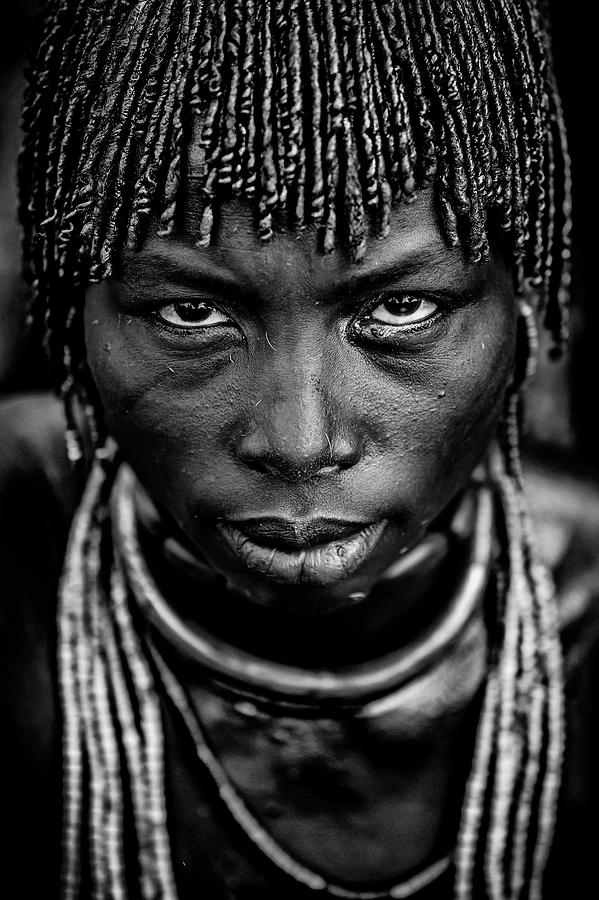 Hamar Photograph - Hamar Woman by Vedran Vidak
