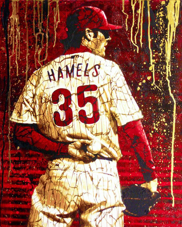 Hamels Painting - Hamels - The Executioner by Bobby Zeik