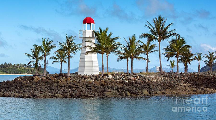 Lighthouse Photograph - Hamilton Island Lighthouse by Shannon Rogers