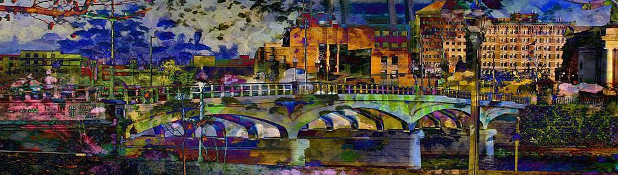 Landscape Digital Art - Hamilton Ohio City Art 7 by Mary Clanahan
