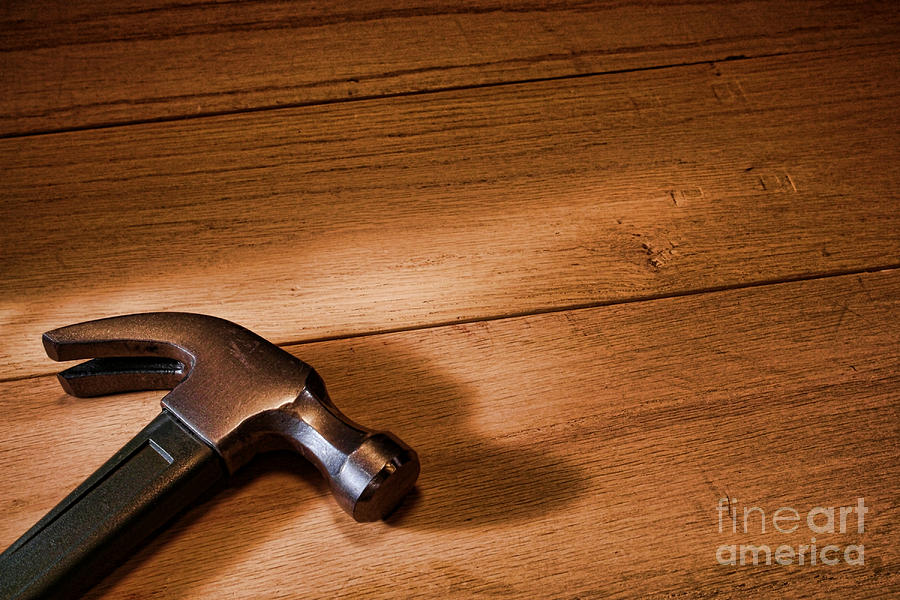 Hammer Photograph - Hammer On Wood by Olivier Le Queinec