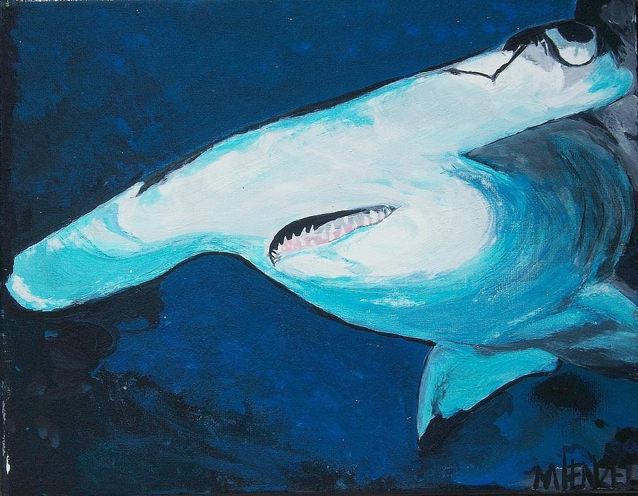 Sharks Painting - Hammer Time by Michael Henzel