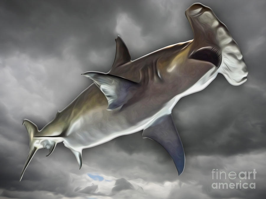Hammerhead Painting by Gregory Dyer