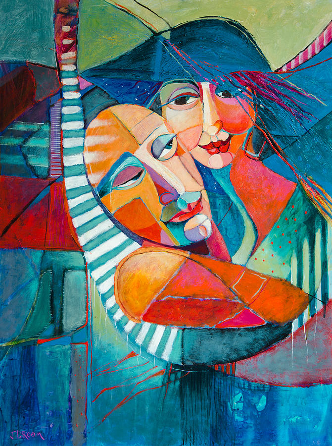 Abstract Paintings Painting - Hammock Dreams by Jennifer Croom