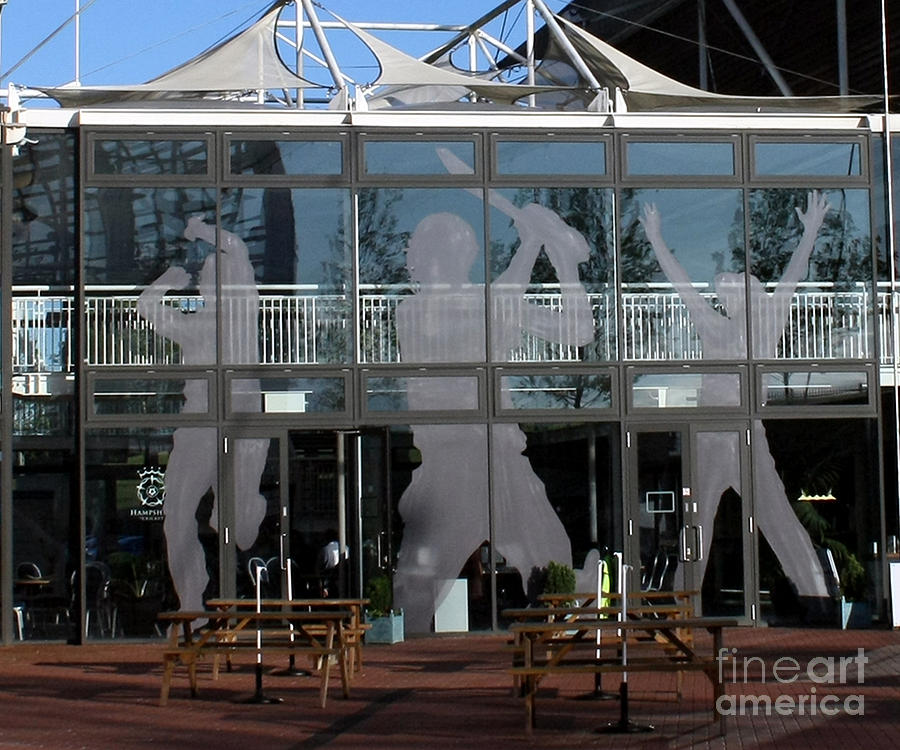 Cricket Photograph - Hampshire County Cricket Glass Pavilion by Terri Waters
