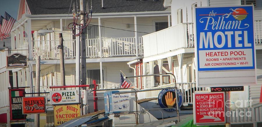 Hampton Beach Signs Photograph