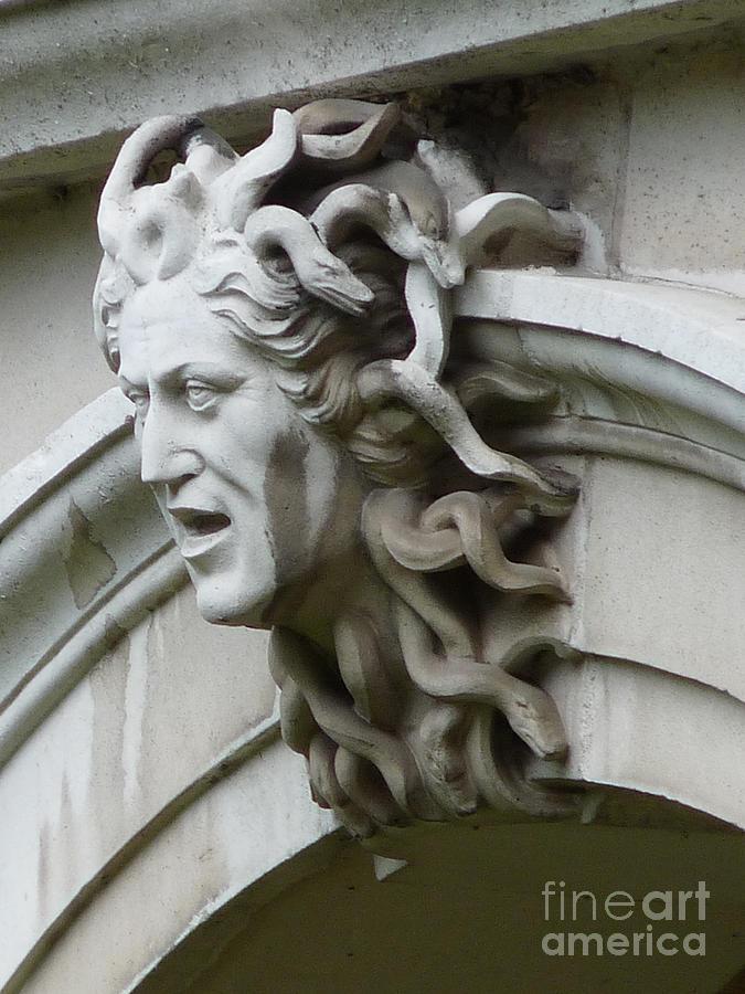 Surrey Photograph - Hampton Court Palace Medusa by Deborah Smolinske