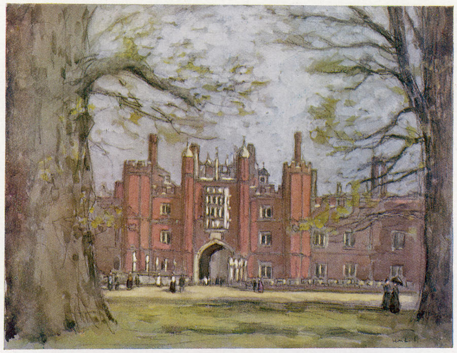 Hampton Drawing - Hampton Court, West London, Showing by Mary Evans Picture Library