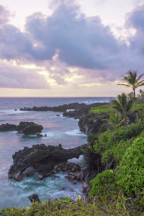 Sun Photograph - Hana Arches Sunrise 3 - Maui Hawaii by Brian Harig