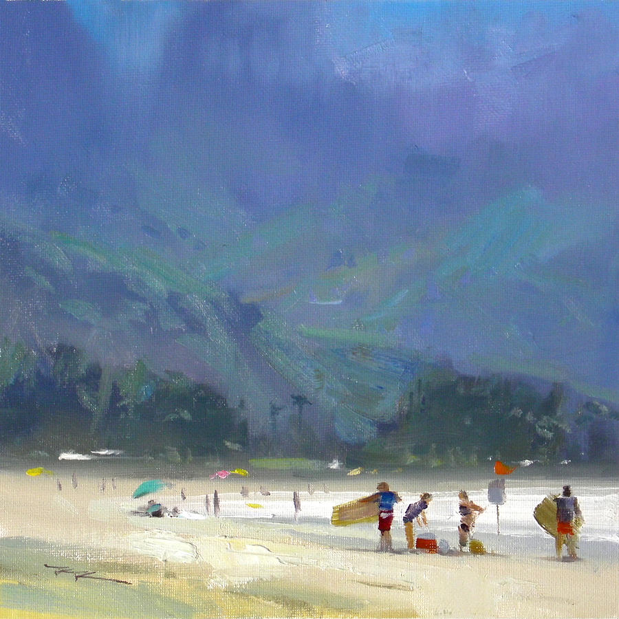 Landscape Painting - Hanalei Bay by Richard Robinson