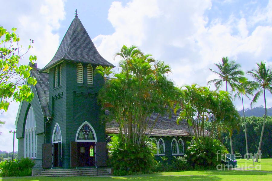 Church Photograph - Hanalei Church by Mary Deal