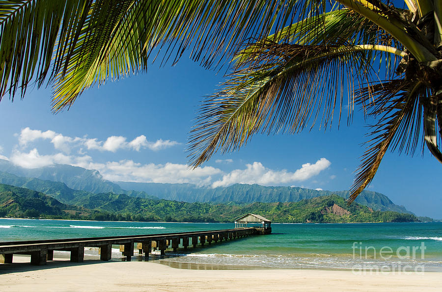 Bay Photograph - Hanalei Pier And Beach by M Swiet Productions