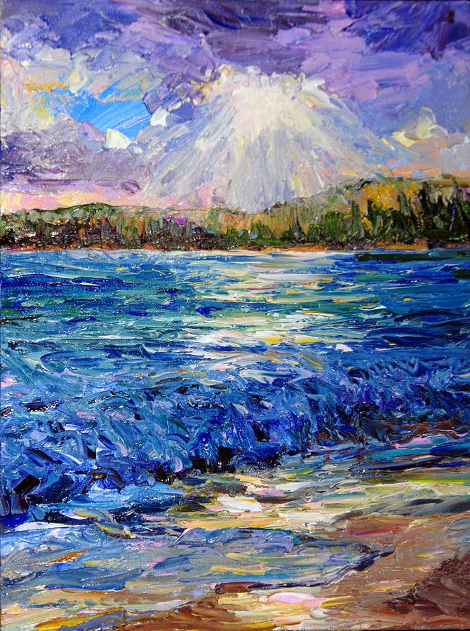 Hawaii Painting - Hanalei Sunrise by Steven Boone