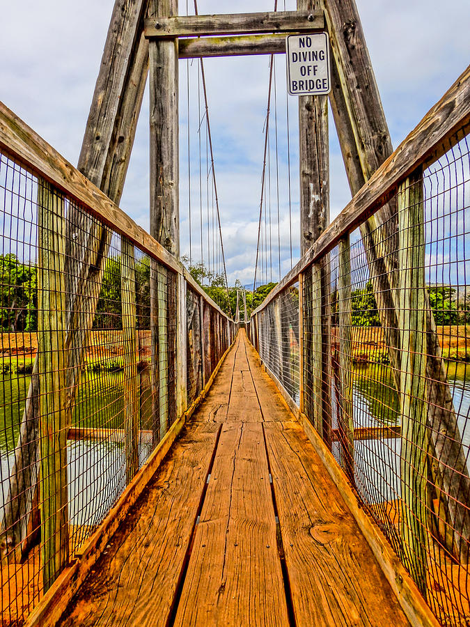 Hanapepe Swinging Bridge In Kauai