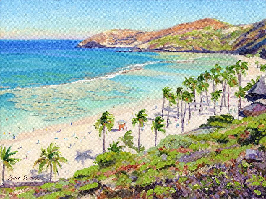 Hanauma Bay Painting - Hanauma Bay - Oahu by Steve Simon