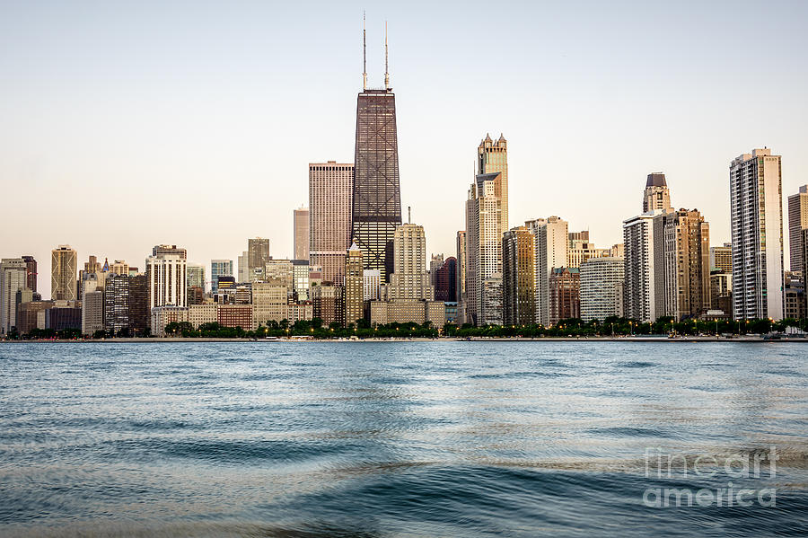 America Photograph - Hancock Building And Chicago Skyline by Paul Velgos