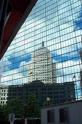 John Hancock Building Photograph - Hancock Towers by Barbara McDevitt