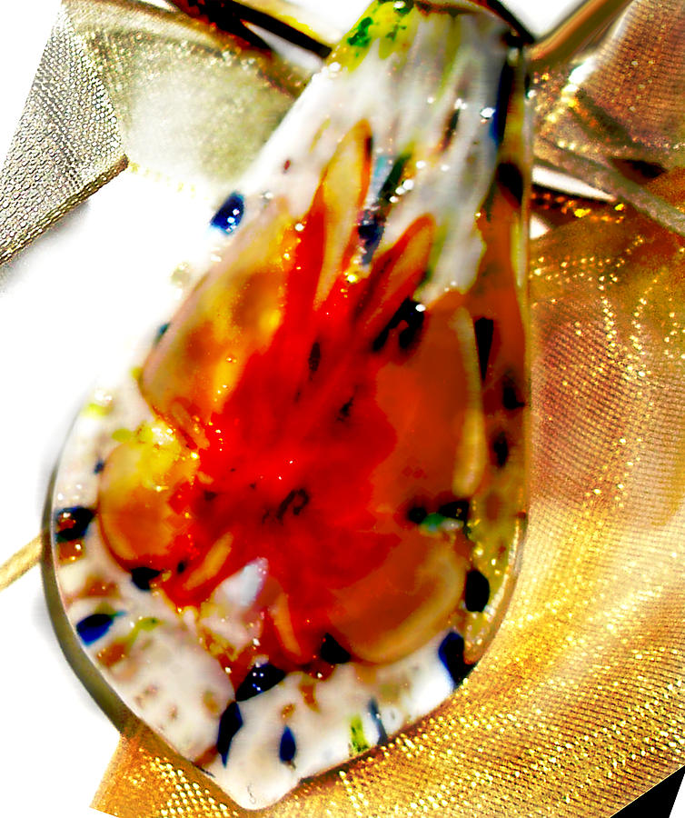 Gold Photographs Photograph - Hand Blown Glass Pendant by Judy Paleologos