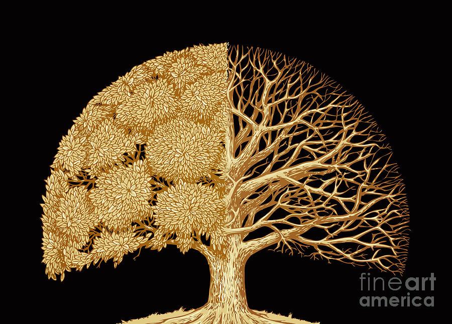 Symbol Digital Art - Hand Drawn Sketch Tree. Environmental by Ava Bitter