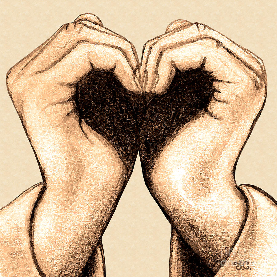 Heart Digital Art - Hand Heart by Jaison Cianelli
