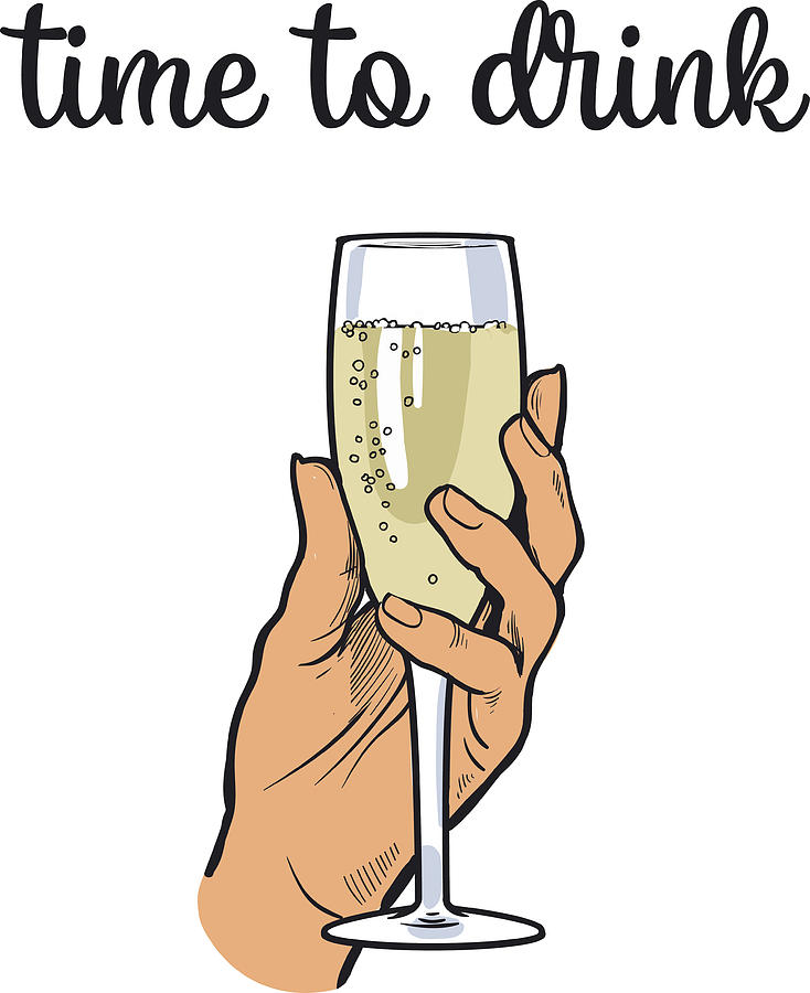 Champagne Drawing