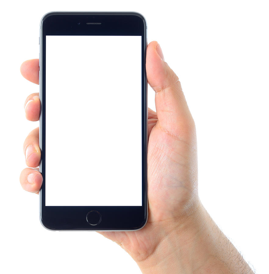 pretty nice 1c041 44927 Hand Holding Blank White Screen Iphone 6 Plus by Hocus-focus