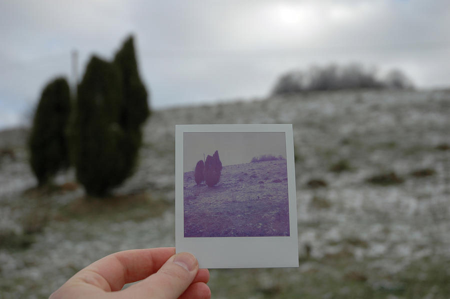 Memory Photograph - Hand Holding Polaroid - Concept Image For Memory Or Time Or Past by Matthias Hauser
