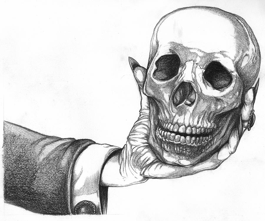 hand holding mirror drawing. landscape drawings drawing - hand holding skull by joseph capuana mirror d