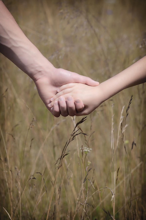 Child Photograph - Hand In Hand by Joana Kruse