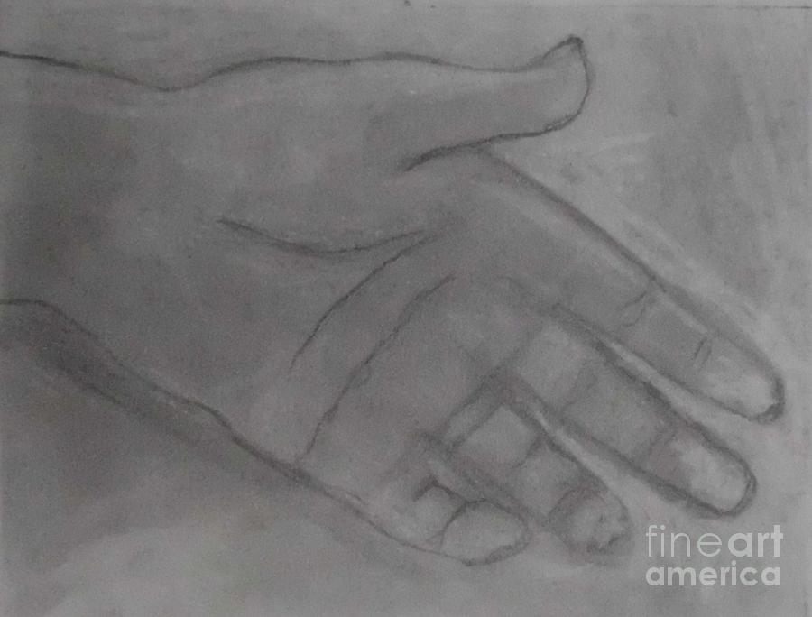 Art By James Eye Drawing - Hand Of God by James Eye