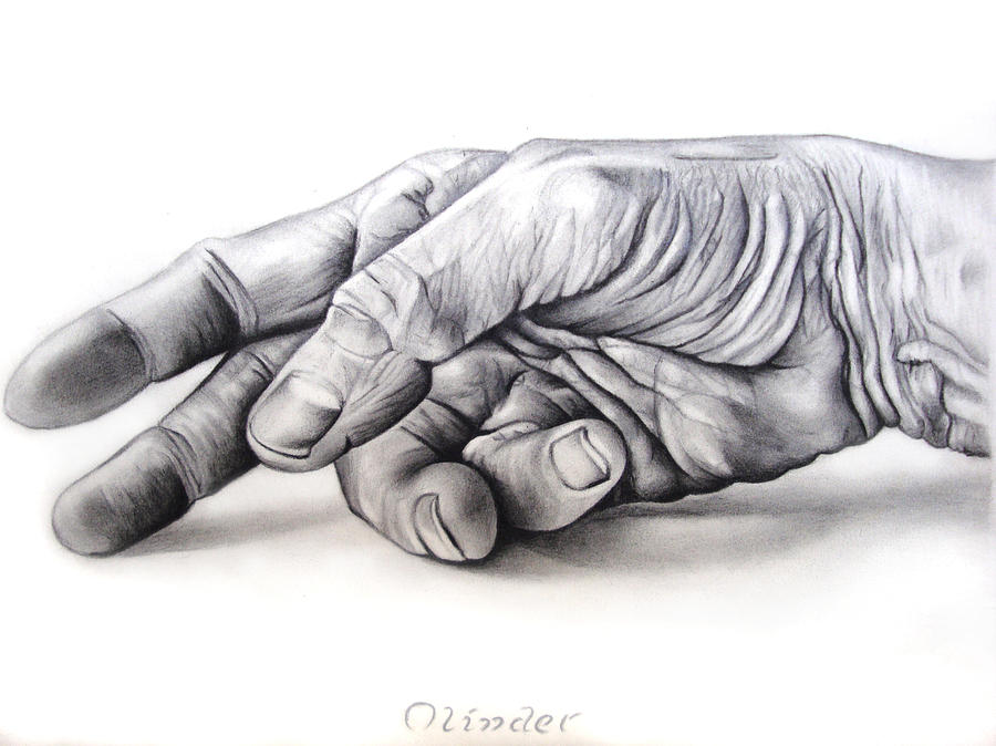 Hand Drawing - Hand Of Hard Work by Atinderpal Singh
