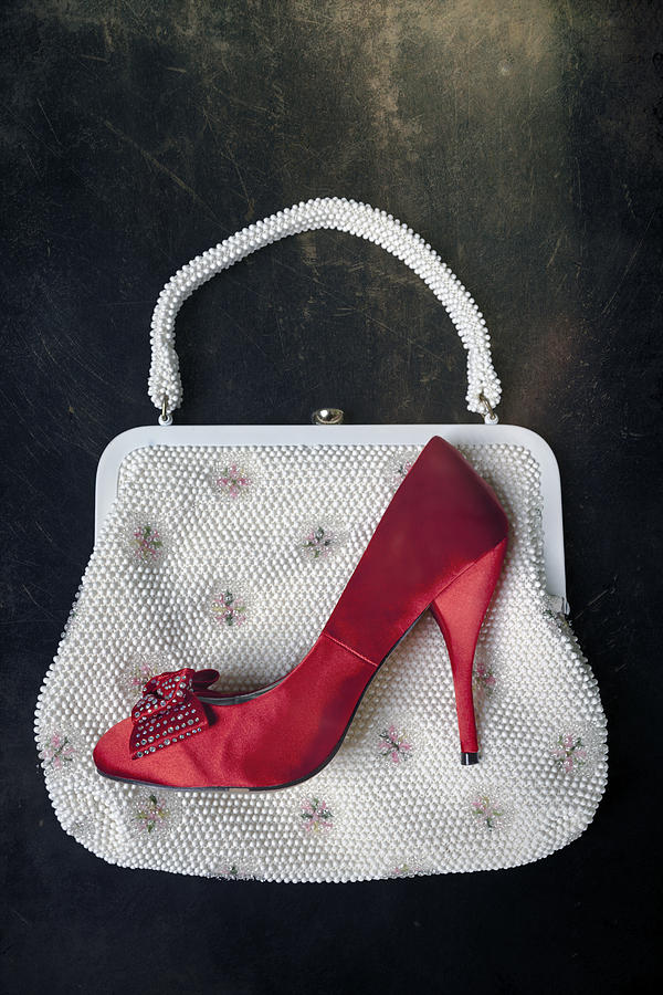 Shoe Photograph - Handbag With Stiletto by Joana Kruse