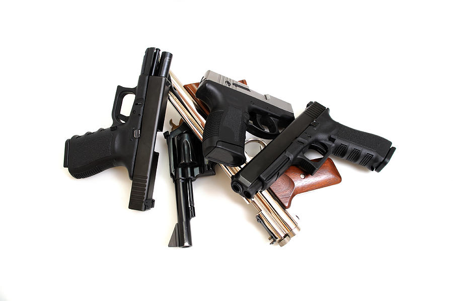 Gun Photograph - Handgun Collection by Don Bendickson