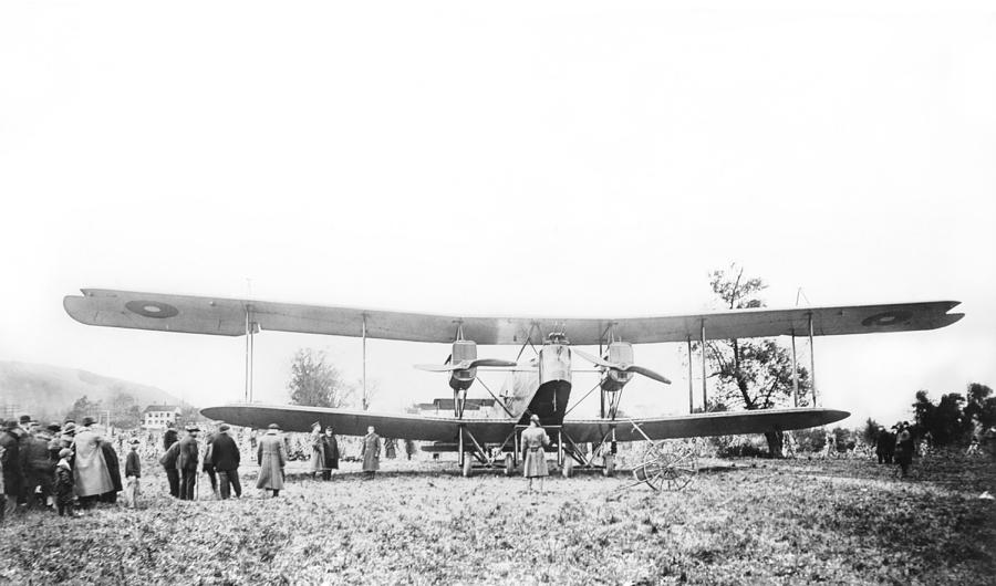 Human Photograph - Handley Page Type O Bomber by Library Of Congress