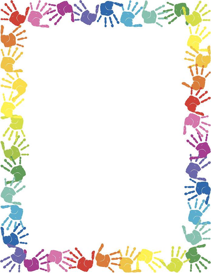 Handprints Border by Jammydesign