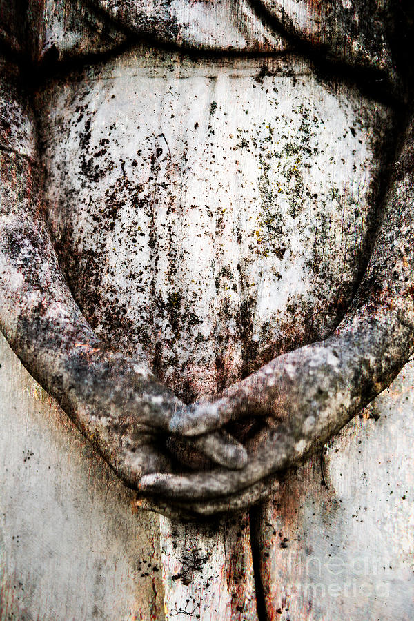 Statue Photograph - Hands In Prayer by Sonja Quintero