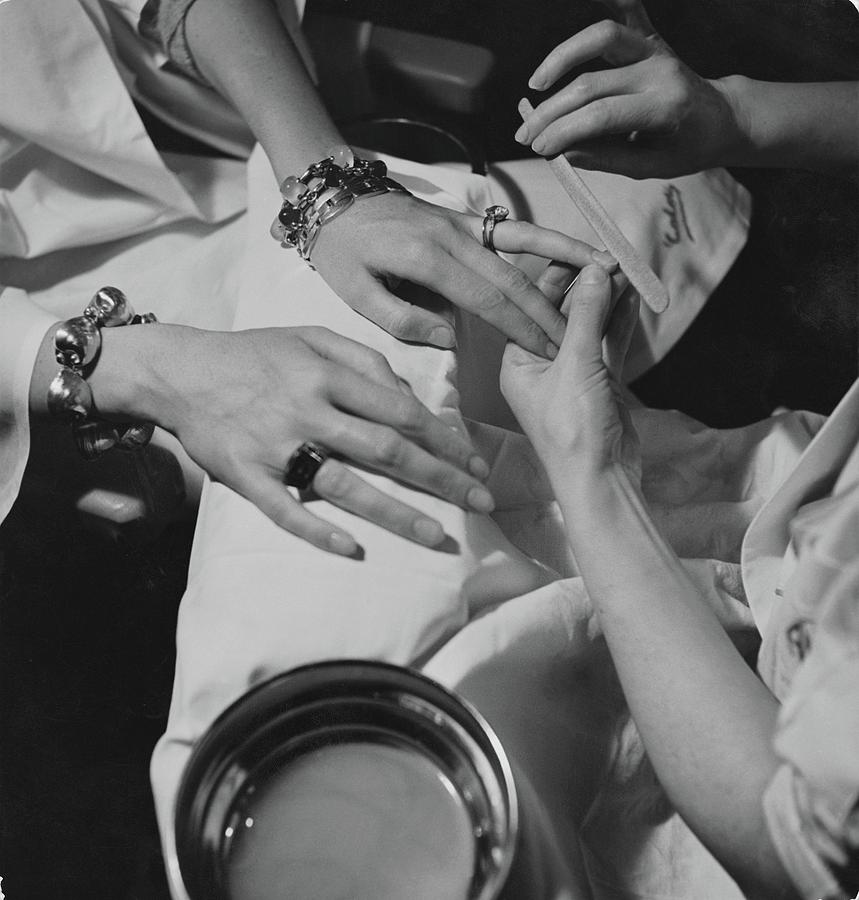 Hands Of The Comtesse Chandon De Briailles Photograph by Roger Schall
