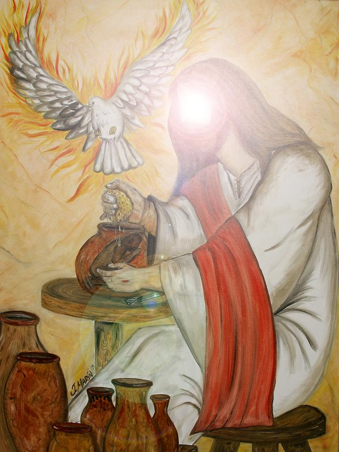 Hands Of The Potter 2005 Painting By Jesus Marin
