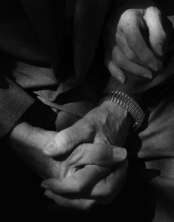 Black And White Photography Photograph - Hands Of Time by Steven Milner