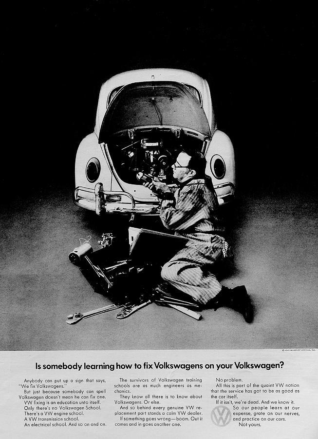 Volkswagen Photograph - Hands Off by Benjamin Yeager