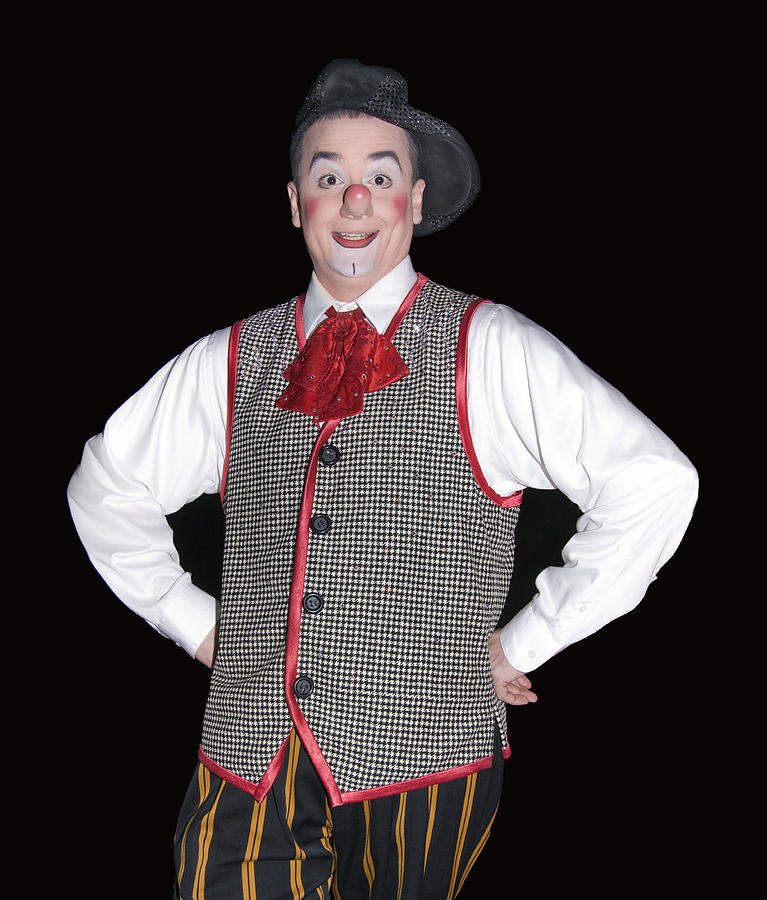 Man Photograph - Handsome Clown At The Circus by Susan Leggett