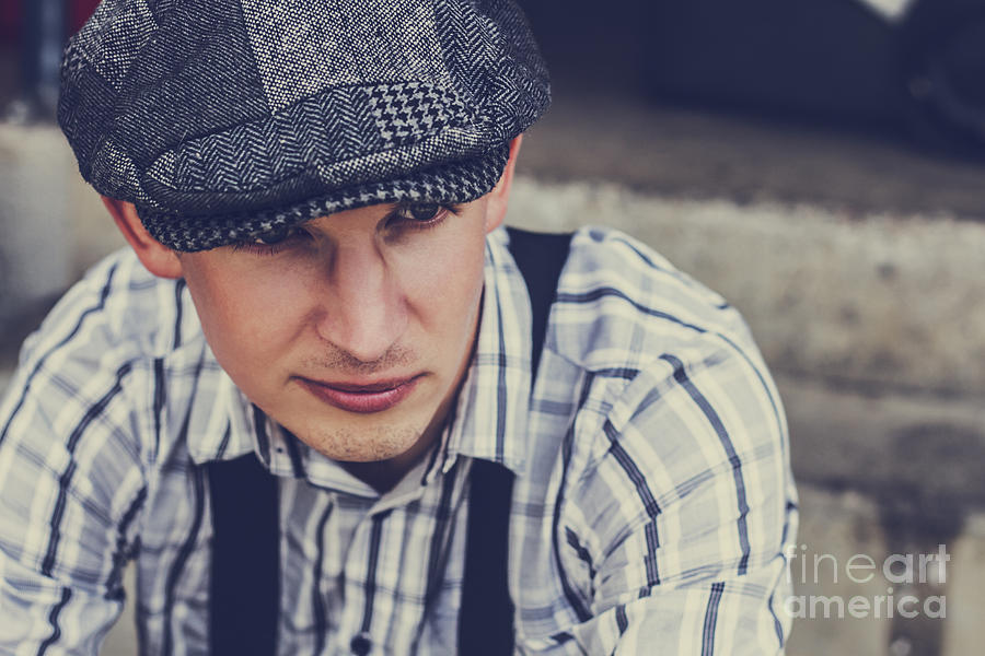 Attractive Photograph - Handsome Fashionable Man In Vintage Apparel by Jorgo Photography - Wall Art Gallery