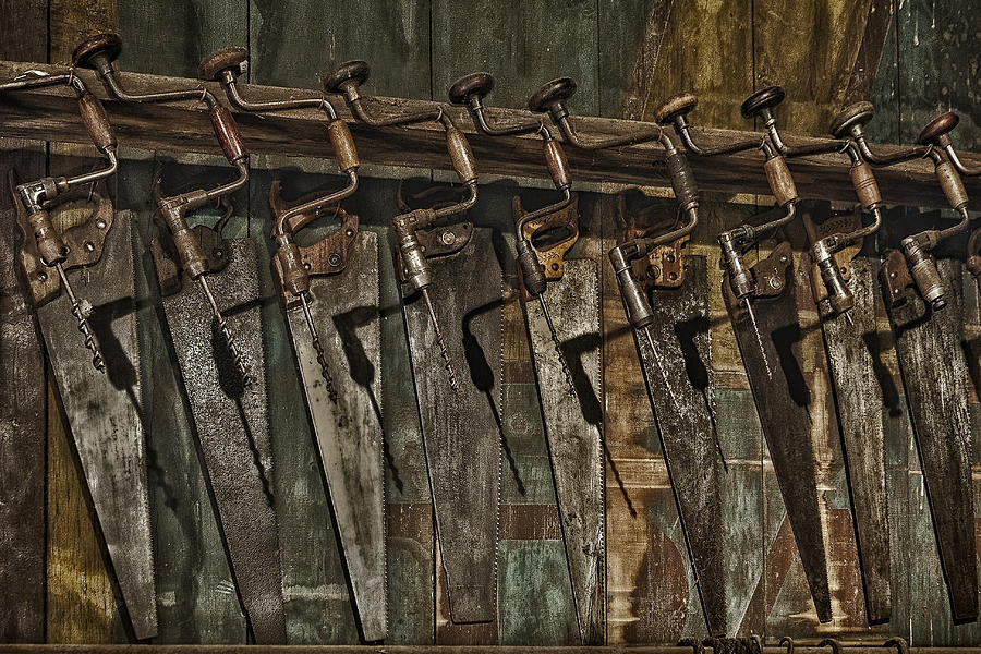 Aged Photograph - Handy Man Tools by Susan Candelario