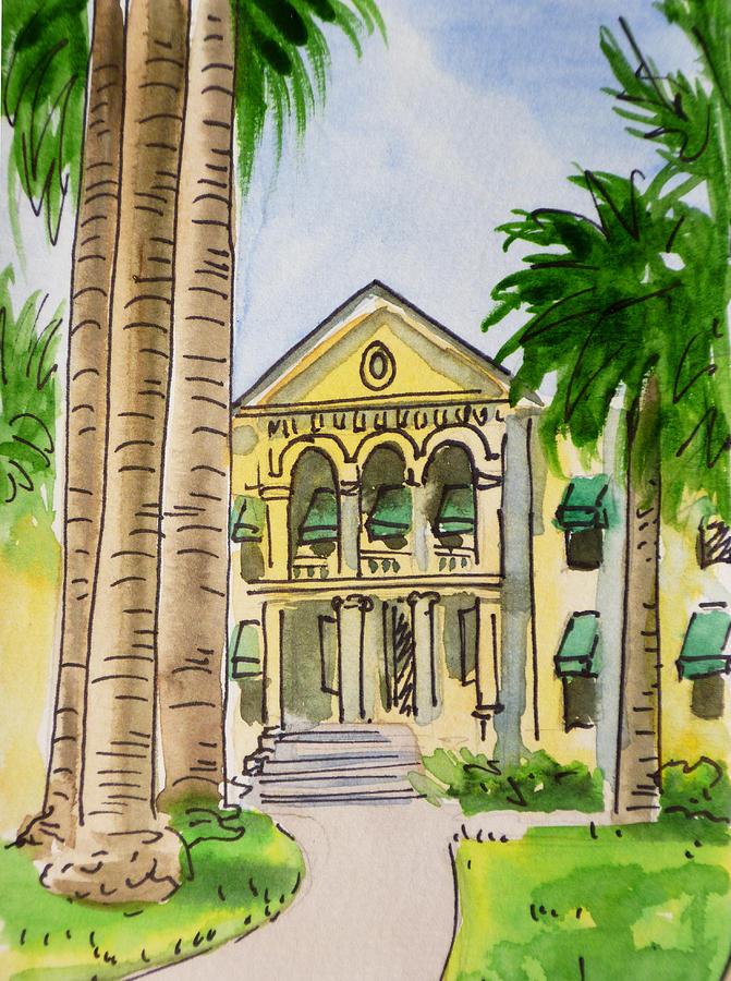 Sketchbook Painting - Hanford - California Sketchbook Project by Irina Sztukowski