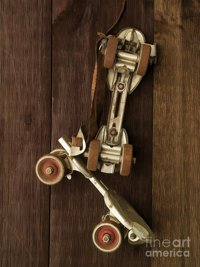 Skates Photograph - Hang Up Your Skates - Oil by Edward Fielding